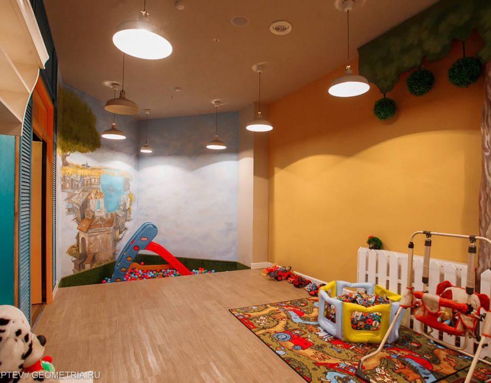 Спортивная комната в ресторане в Екатеринбурге