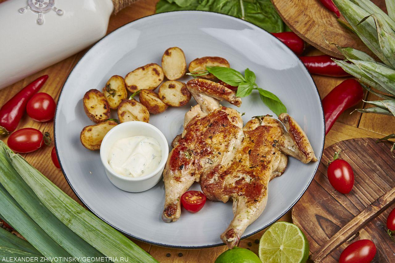 Цыпленок по-милански с картофелем