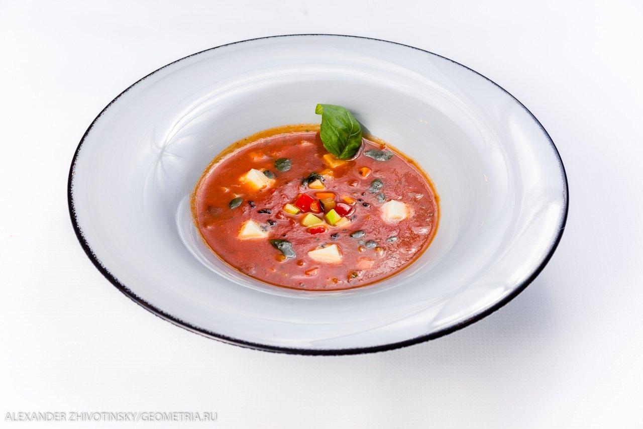 Суп-минестроне с моцареллой