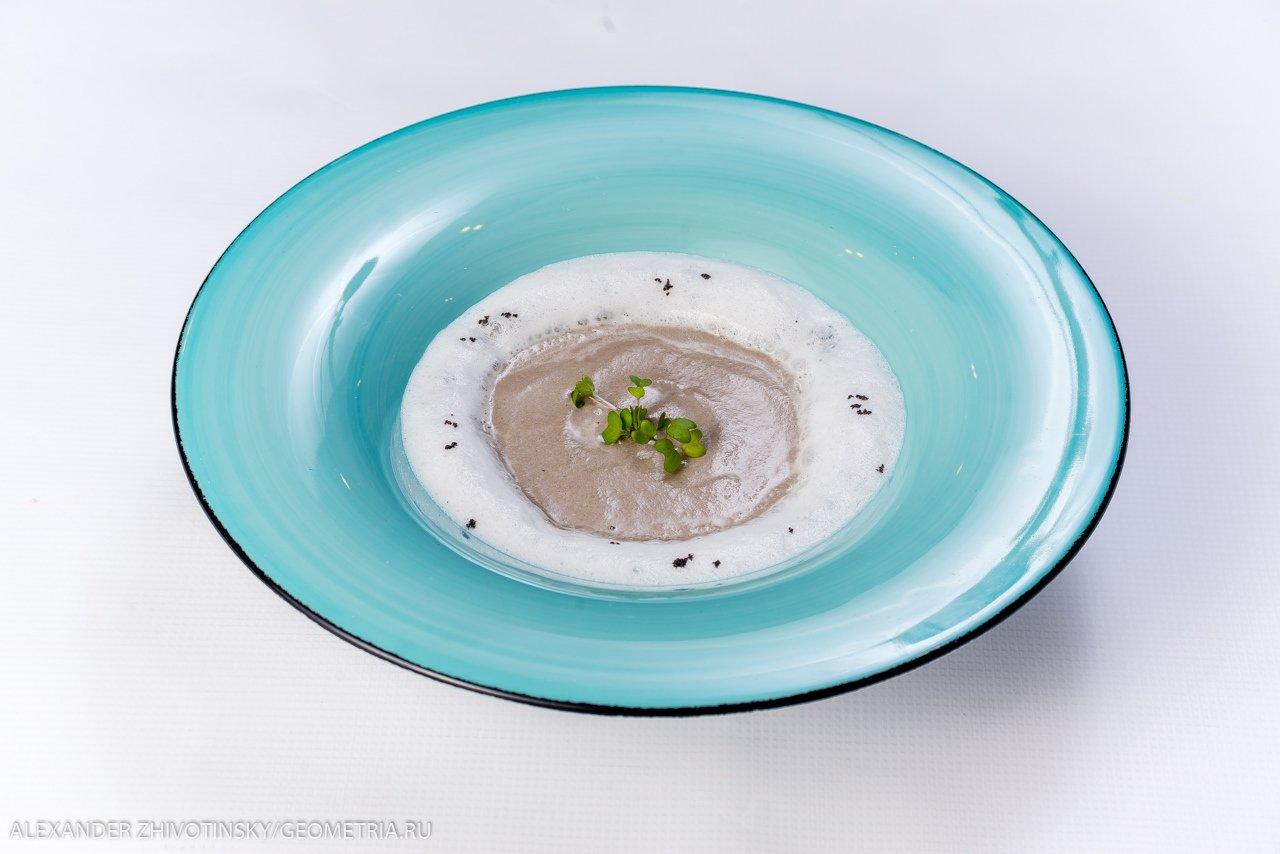 Суп-капучино из белых грибов
