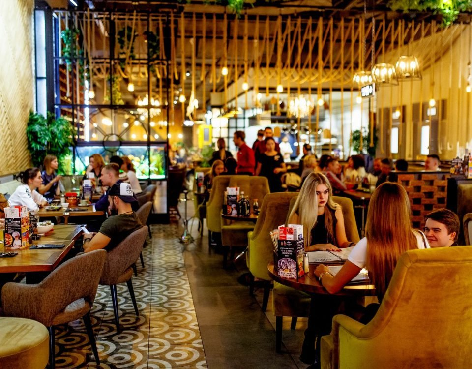 Вечернее фото ресторана КингЧанг