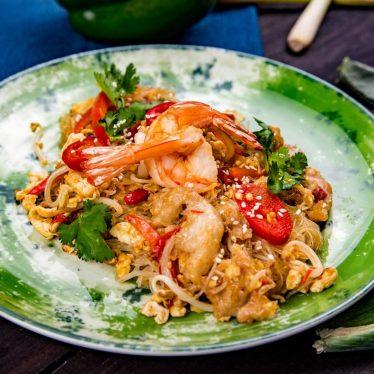 Рис малазийский с курицей и креветками