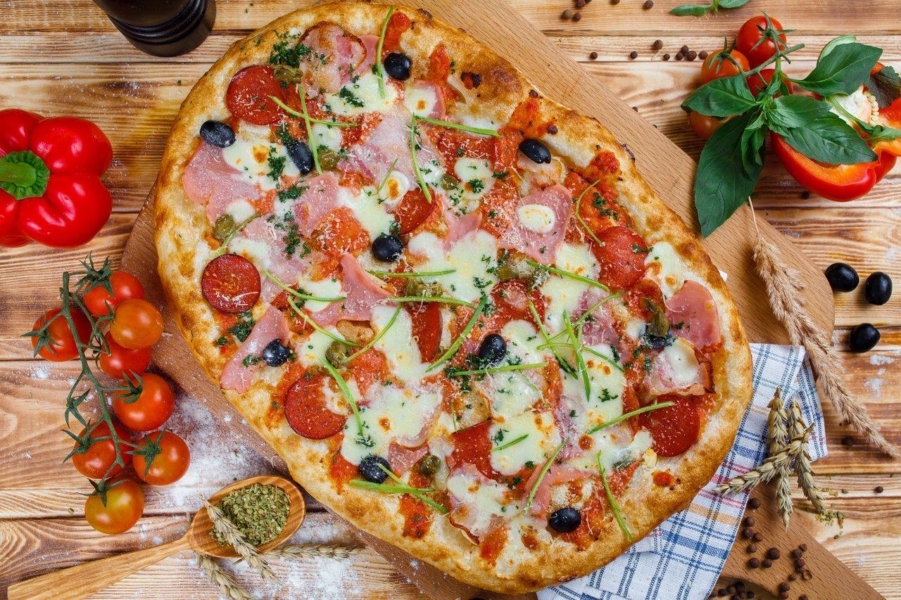 Римская пицца Мясное ассорти 35см