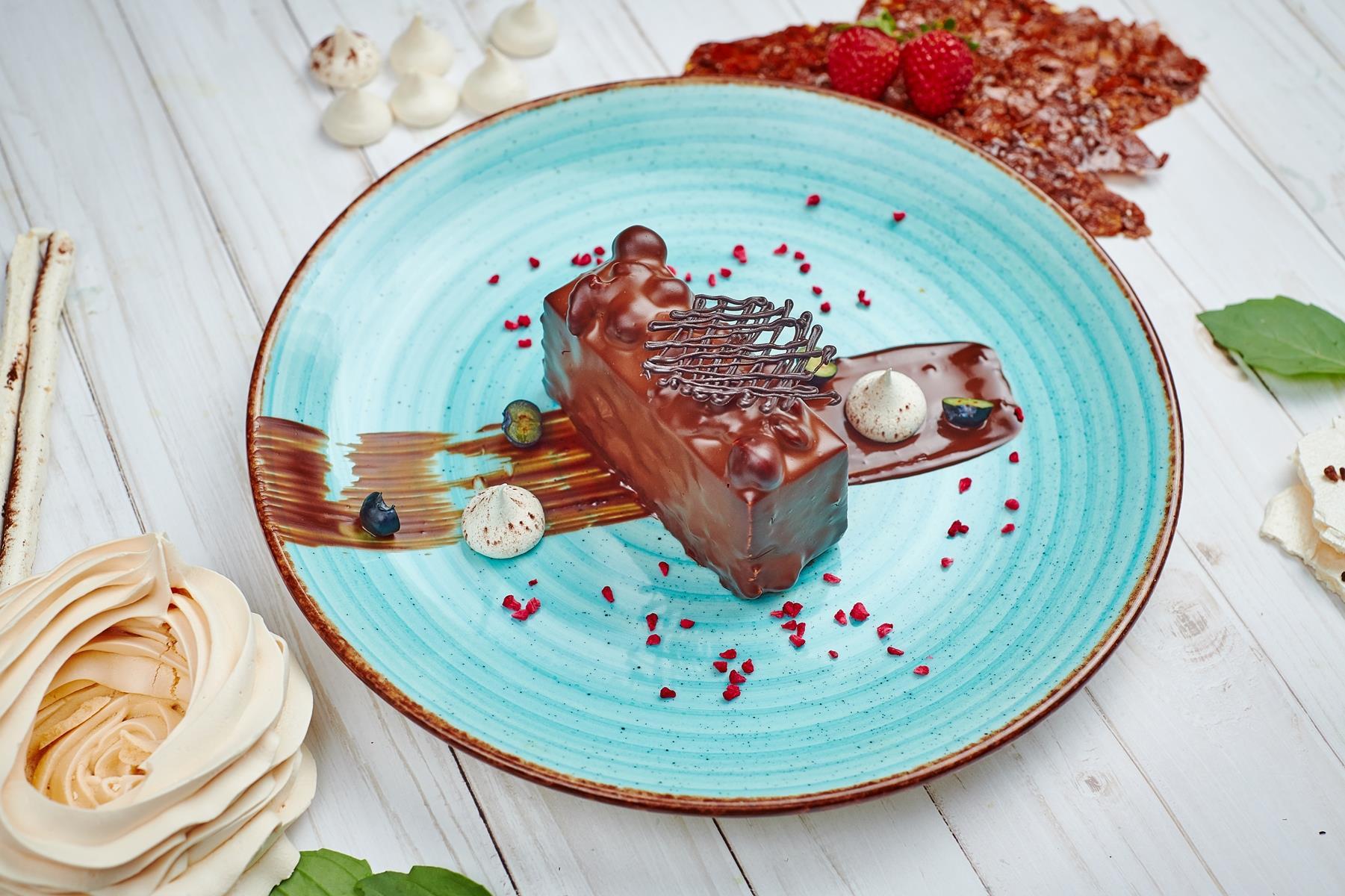 Шоколадно-ореховый ломтик