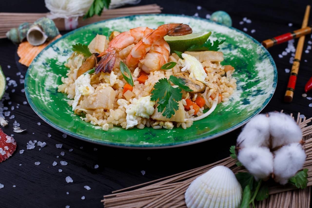 -Рис с морепродуктами