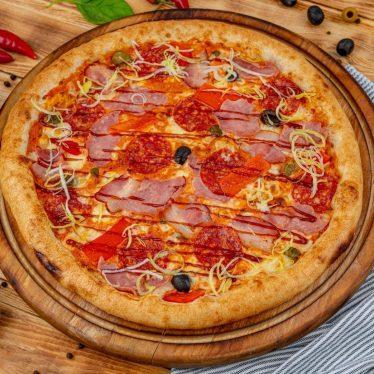 -Пицца Мясное ассорти